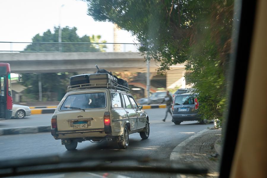 Driving to Saqqara. Photo: Nicola Dell'Aquila.