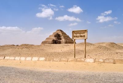 Welcome to Saqqara. Photo: Nicola Dell'Aquila.