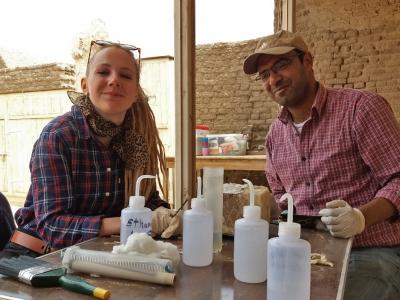Stephanie Papenheim and Islam Taha. Photo: Lara Weiss.