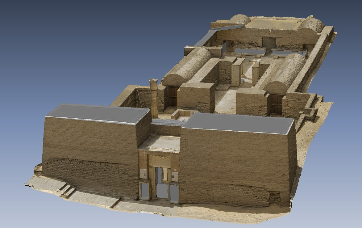 3D model of Maya's tomb, kindly sponsored by the Friends of Saqqara Foundation in 2018. Elaboration: Alessandro Mandelli.