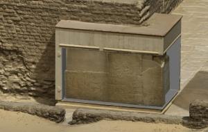 3D model of Maya's tomb: detail of reliefs. Elaboration: Alessandro Mandelli.