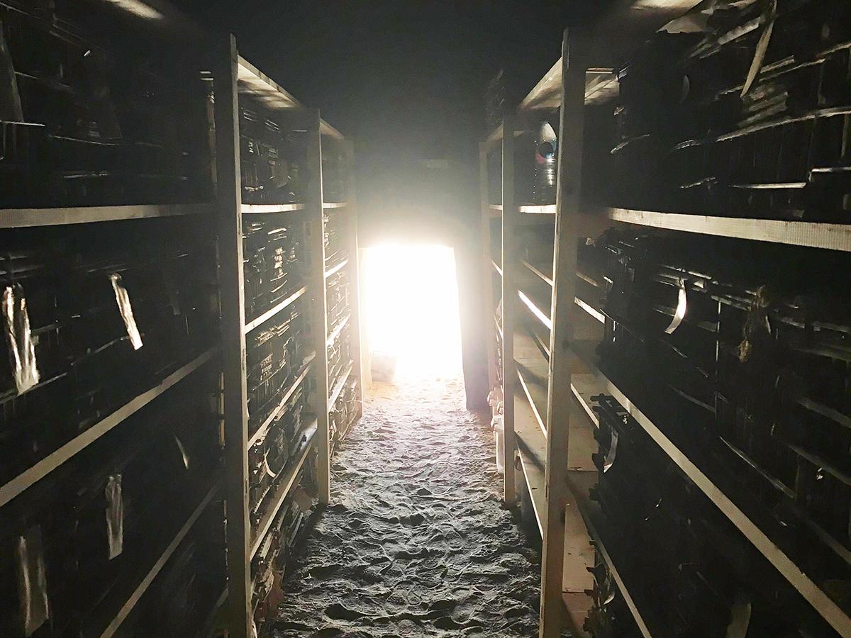 The new shelves in the Horemheb storage room. Photo: Ali Jelene Scheers.