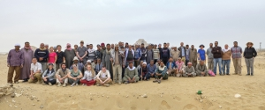 The Saqqara Team says thank you! Photo: Nicola Dell'Aquila.