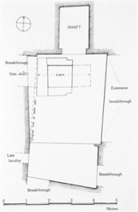 Substructure of Iniuia's tomb