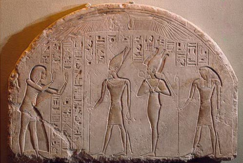 Stela fragment of Horemheb, from the Hermitage in St. Petersburg