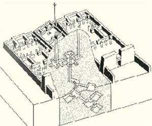Substructure of the tomb of Ramose